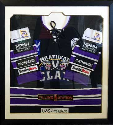 Framed Ice Hockey Braehead Clans Top