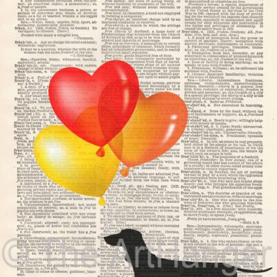 Dictionary Dog Silhouette of a Dachshund