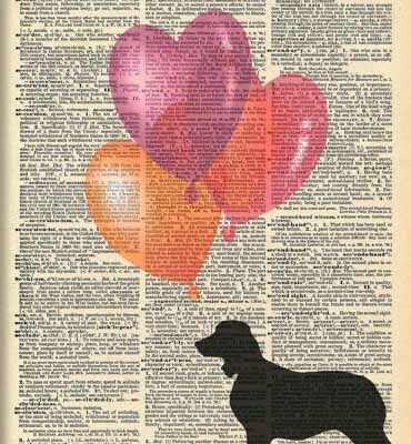 Dictionary Dog Silhouette of English Springer Spaniel