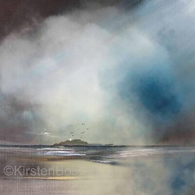 Giclée Print of Fidra In The Mist by Kirsten Boston