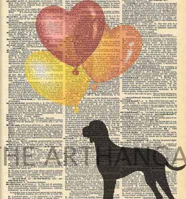 Dictionary Dog Silhouette of Hungarian Vizsla