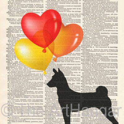 Dictionary Dog Silhouette of Basenji