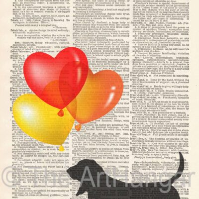 Dictionary Dog Silhouette of Basset Hound