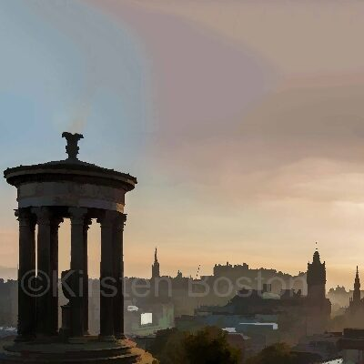 Giclée Print of Calton Hill at Sunset
