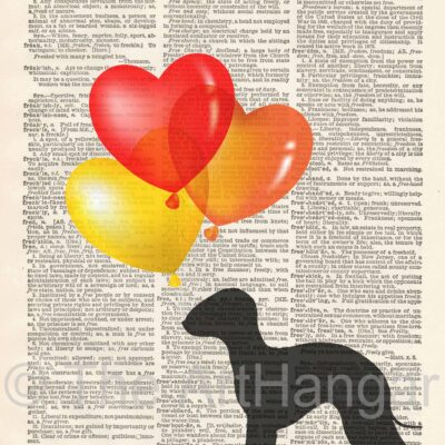 Dictionary Dog Silhouette of Bedlington Terrier