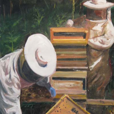 Beekeepers (Cropped), Sylvia Fraser